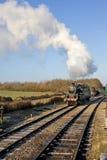 wareham поезда swanage пара двигателя dorset замока старое стоковое изображение