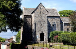 Wareham, England: St. Martin's Church. The remarkable circa 1030 A. D. Saint Martin's-On-the-Walls church in Wareham, England is the most complete example of a stock image