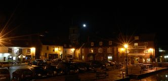 Wareham-Kai nachts Lizenzfreie Stockbilder