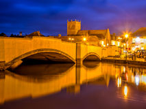 Wareham Quay at night Dorset Stock Photography