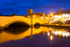 Wareham Quay at night Dorset Royalty Free Stock Images