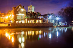 Wareham Quay at night Dorset Stock Photos
