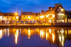 Wareham Quay at night Dorset Royalty Free Stock Photos