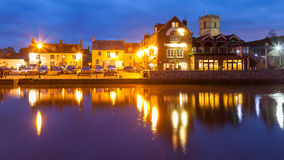 Wareham Quay at night Dorset Royalty Free Stock Photography