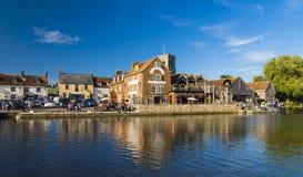 Wareham quay w jaskrawym świetle słonecznym Obrazy Stock