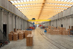 Warehouse. An interior view of loading and unloading area of a warehouse Royalty Free Stock Photography