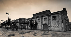 Warehouse. Along the lines of Old Shanghai Architecture at Wuxi in China stock image