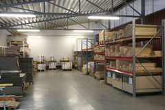 Warehouse. View, details and packages Royalty Free Stock Images
