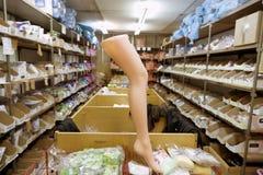 At the warehouse Stock Image
