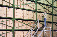 Warehouse. royalty free stock photography