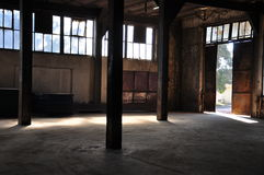 Warehouse. An abandoned and empty warehouse Stock Photography