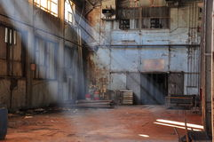 Warehouse. An abandoned and empty warehouse stock images