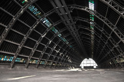 Warehouse. Huge empty warehouse by day Royalty Free Stock Image