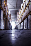 Warehouse. Impressions of a big industrial warehouse with goods Stock Image