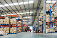 Warehouse. November 26, 2011. Large warehouse with CMC(a kind of food additive Stock Photos