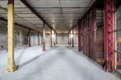 Warehouse. Interior of an old abandoned warehouse Royalty Free Stock Photos