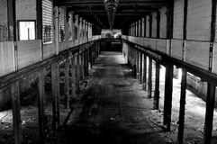 Warehouse abandonado Foto de archivo libre de regalías