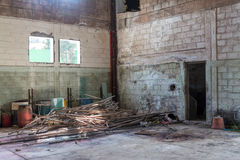 Warehouse abandonado abandonado Fotos de archivo