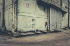 Warehouse an abandoned Royalty Free Stock Image