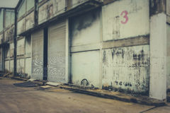 Warehouse an abandoned Royalty Free Stock Photo