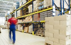 Free Warehouse And Worker Royalty Free Stock Photos - 14942298