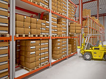 Warehouse background Royalty Free Stock Image