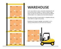 Warehouse background template royalty free illustration