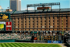 Warehouse behind Oriole Park at Camden Yards. Stock Images