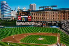 Warehouse behind Oriole Park at Camden Yards. Royalty Free Stock Photos