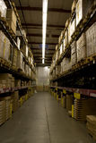 Warehouse. A big warehouse filled with big furniture packages Royalty Free Stock Images