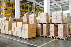 Warehouse boxes Stock Photography