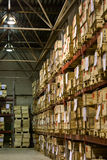 Warehouse with boxes. Industrial warehouse with plenty of boxes Stock Images