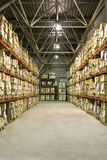 Warehouse with boxes. Industrial warehouse with plenty of boxes Stock Photos