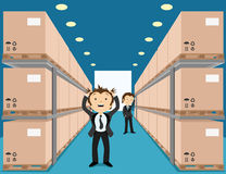 Warehouse with boxes. Stock Photo
