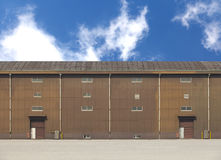 Warehouse building in factory zone Stock Photography