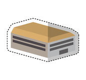 Warehouse building isometric icon Royalty Free Stock Photography