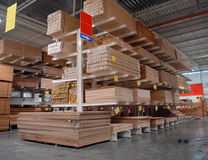 Warehouse of building materials Royalty Free Stock Photos