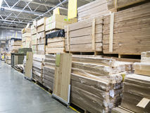 Warehouse of building materials in industiral store Stock Photography