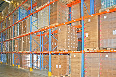 Warehouse cargo Stock Image