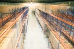 Warehouse. Cartons on rack at warehouse Royalty Free Stock Image