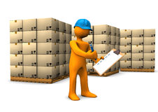 Warehouse Check Royalty Free Stock Photo