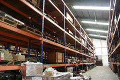 Clean industrial warehouse Stock Photos