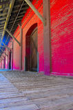 Warehouse (colorized). A colorized warehouse dock Royalty Free Stock Photo