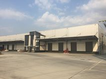 A warehouse is a commercial building for storage of goods. Stock Image