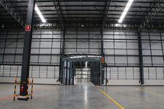 A warehouse is a commercial building for storage of goods. Royalty Free Stock Image