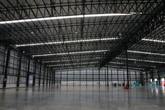 A warehouse is a commercial building for storage of goods. Stock Photo
