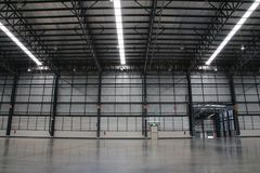 A warehouse is a commercial building for storage of goods. Stock Photography