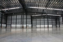 A warehouse is a commercial building for storage of goods. Royalty Free Stock Images