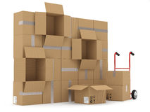 Warehouse concept Stock Photography