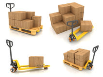 Warehouse Concepts - Set of 3D Illustrations Royalty Free Stock Photo